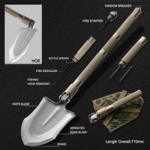 Multi Function Folding Survival Spade (#8450) pictures & photos