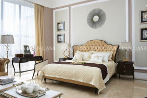 High Quality Classical Wooden Furniture Bedroom Set Bed (MS-A6001f-2)