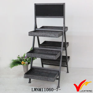 Vintage Industrial Folding Storage Rack Metal Ladder Shelf pictures & photos