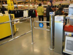 Supermarket Barriers, Queue Barrier Fence, Barrier Gate, Chrome Barrier Fence pictures & photos