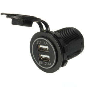 Dual USB Car Cigarette Lighter Socket Splitter 12V Charger Power Adapter Outlet AC/DC Adapter pictures & photos