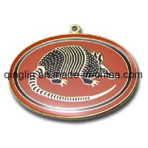 Custom Pangolin Pattern Round Shape Pet Tag (QL-GP-0019) pictures & photos