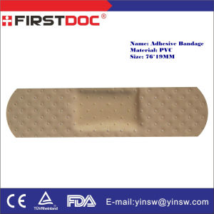 76X19mm PVC Skin Waterproof First Aid Adhesive Plaster pictures & photos