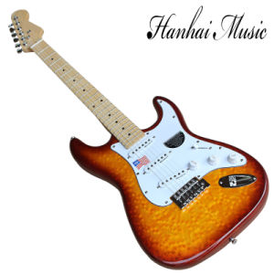 Hanhai Music/St Style Electric Guitar with Maple Fingerboard pictures & photos