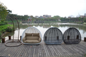 Hot Sale Luxury Durable Garden Swing Chair with Two Poles pictures & photos