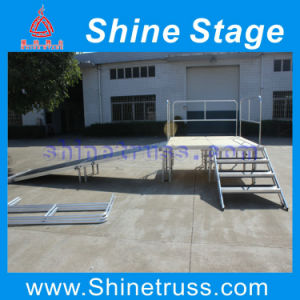 Portable Stage with Wheelchair Ramp with Landing and Guard Rails pictures & photos