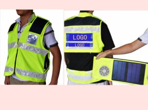 Solar Power Safety Vest with Solar Panels Recharger and Fans S05b