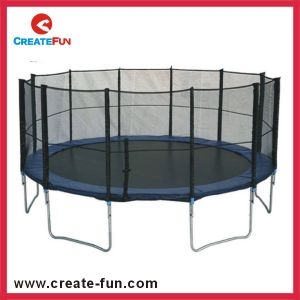Createfun Amusement 14ft Round Outdoor Large Trampoline for Kids