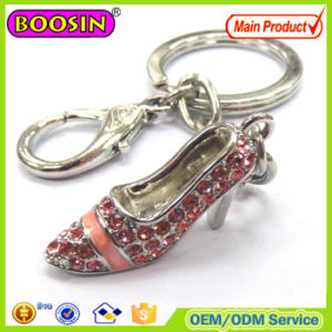 Sexy Metal Alloy Rhinestone High Heel Shoe Keychain pictures & photos