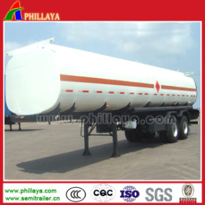Semi-Trailer Stainless Steel Fuel Tanker with Volume Customized pictures & photos