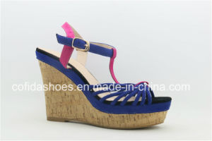 Comfortable Wedge Heel Lady Strap Fashion Sandal pictures & photos