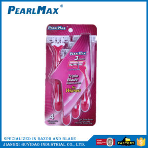 Triple Blade Razor with Lubricating Strip for Lady pictures & photos