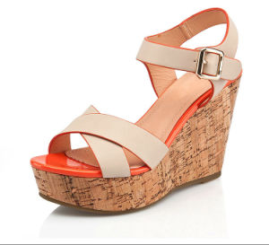 Comfortable Woman Dress Wedge Sandals pictures & photos