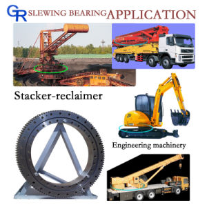 Excavator Single Row External Gear Swing Bearings for Kobelco pictures & photos