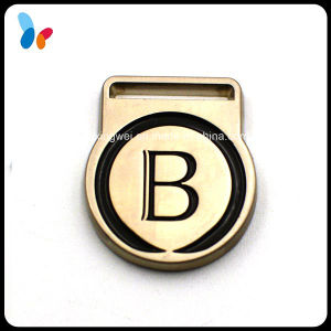 Custom Made Engraved Letter Logo Metal Badge pictures & photos
