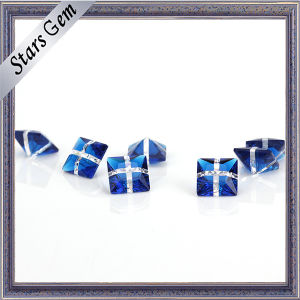 Synthetic Glamour Mixed Color Blue and White Glass pictures & photos