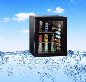 High Quality Glass Door Table Top Mini Fridge with Bottle Shelf pictures & photos