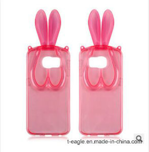 Crystal Bracket Rabbit Girl Phone Case for Samsung S6 /G9200 pictures & photos