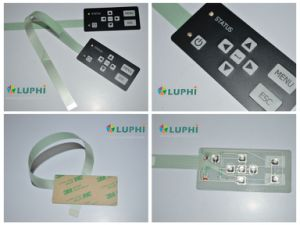 Silk Screen Printing Graphic Overlay Electronic Membrane Switch with LED Backlighting pictures & photos