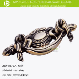ISO9001 Classical Cabinet Handles Zamak Antique Brass Style pictures & photos