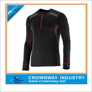 Quick-Dry Breathble Custom-Made Men Compression Run Shirts with High Quality pictures & photos