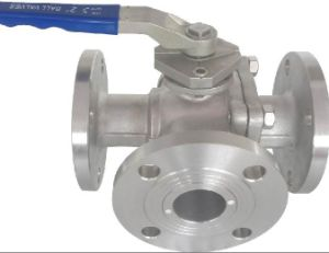 Flanged Three Way Hard Sealing Ball Valve pictures & photos