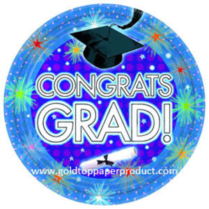 Disposable Paper Dinner Luncheon Plates for Graduation Party pictures & photos