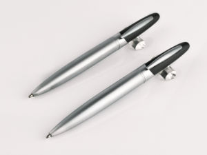 Custom Logo Super Thin Ballpoint Stylus Metal Pens pictures & photos