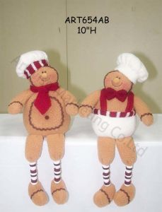 Spring Legged Gingerbread -2 Asst-Christmas Decoration pictures & photos