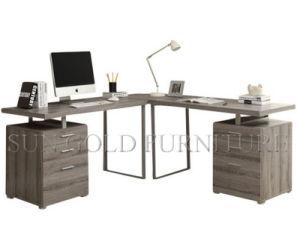 Hot Sale L Shape Corner Grey Computer Desk (SZ-OD457) pictures & photos