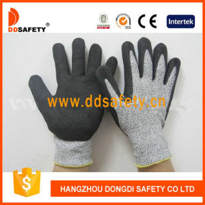Ddsafety 2017 Cut Resistance Sandy Nitrile Dipping Safety Gloves pictures & photos