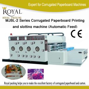 Mjbl-2 Series Corrugated Paperboard Printing and Slotting Machine (Automatic Feed) pictures & photos