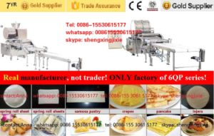 Auto High Quality/Capacity Gas/ Ele Pancake Machine/ Thin Pancake Machinery/ Flat Pancake Machine pictures & photos