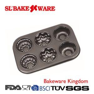 6 Cup Multi Cake Pan Carbon Steel Nonstick Bakeware (SL-Bakeware)