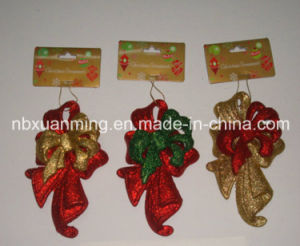 Christmas Glitter Bow (XM-C-1017) Christmas Tree Ornament pictures & photos