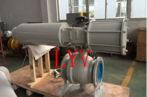 Pneumatic Cast Steel Flanged Ball Valve pictures & photos