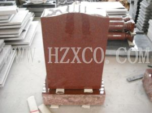 Hzx Red Granite Grave Stone for USA Market pictures & photos