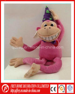 Pink Funny Stuffed Monkey Toy of Promotion Gift