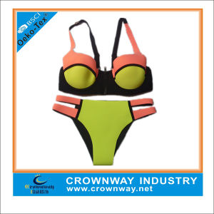Wholesale Fashion Sexy Ladies Neoprene Bikini with Neon Soft Fabric pictures & photos