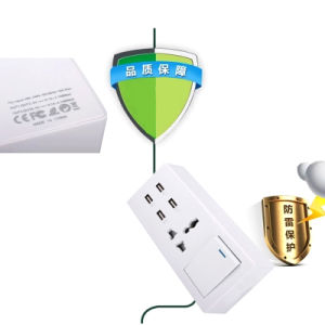 4 USB Quick Charge Function 1 Way Switch Electric Extension Receptacle Outlet Socket with Intergrated Power Cable pictures & photos