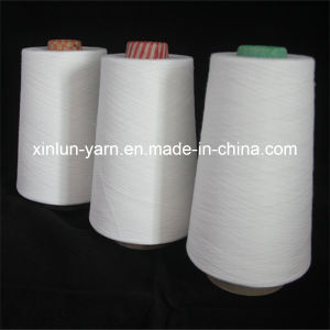 Waxed Polyester Spun Yarn for Weaving (Ne 32/1) pictures & photos
