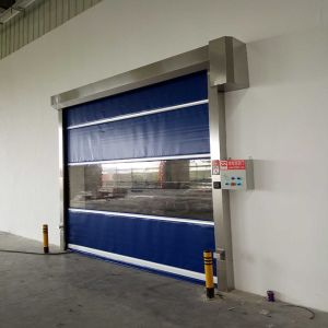 Industrial PVC High Speed Rolling Shutter Doors, Electrical Fast Rolling up Door (HF-1041) pictures & photos