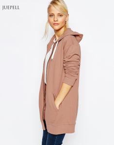 Oversize Zip Front Custom Fleece Women Hoody pictures & photos