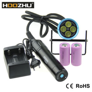 Hoozhu Hu33 Canister Dive Light LED Torch with Waterproof 120 Meters Diving Lamp pictures & photos