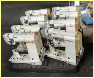 Used Single Needle Post Bed Driven Roller Feed Sewing Machine (CS-8810) pictures & photos