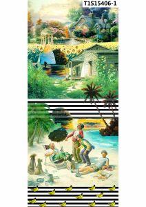 Landscape Printing on Silk Georgette/Ggt