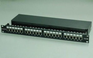 Cat5e FTP Shielded 24 Port Patch Panel Drawer Type pictures & photos