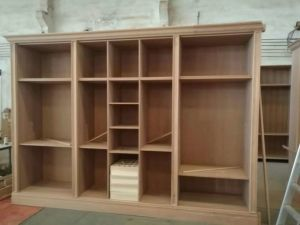 Solid Wood Wardrobe (Wooden Bedroom furniture) (DH-16001) pictures & photos