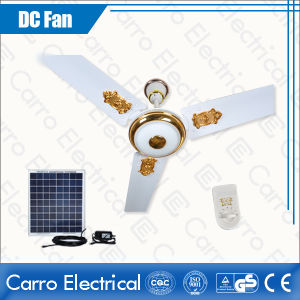 12V 3 Blades Decorative Brushless Motor Solar DC Ceiling Fans with Lights