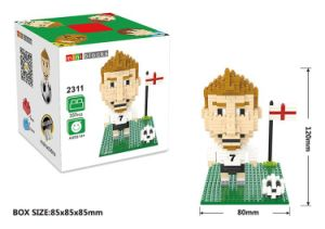 10172311-Football Star Figure Shape ABS Building Block Educational Decoration Toy for Spatial Thinking pictures & photos